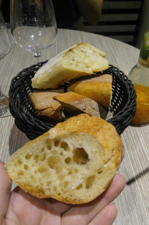 sliced baguette appetizer