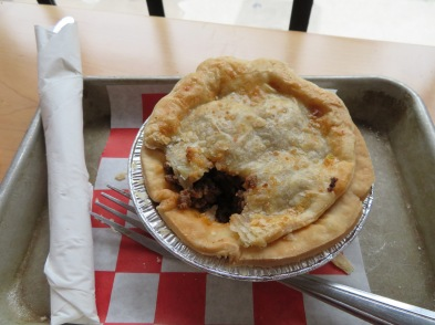 meat pie at kookaburra